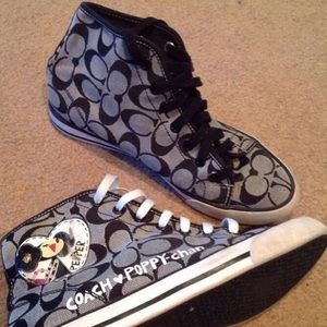 Limited edition rare Coach poppy Chan sneakers!